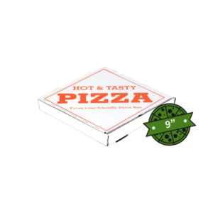 Hot n Tasty White Pizza Boxes 9 inches